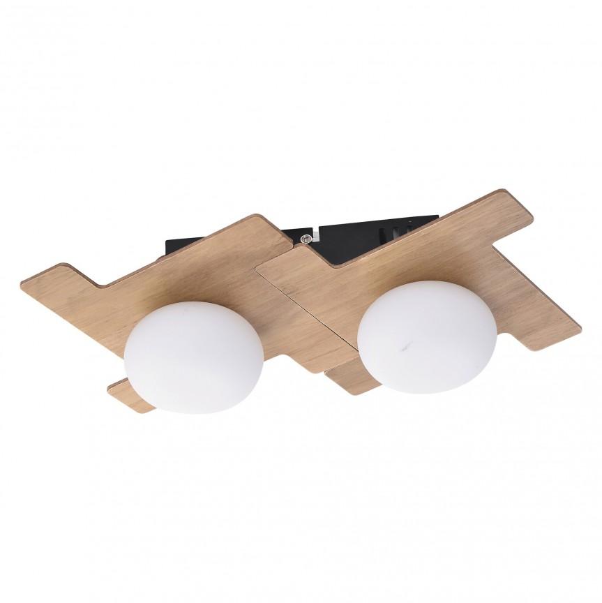 Aplica 2 spoturi design scandinav nordic NORWOOD maro fag 6918 RX, Aplice aplicate perete sau tavan cu spoturi, LED⭐ modele moderne corpuri de iluminat tip spoturi pe bara.✅Design decorativ 2021!❤️Promotii lampi❗ ➽ www.evalight.ro. Alege oferte aplice de iluminat interior, lustre si plafoniere cu 2 spoturi cu lumina LED si directie reglabila, spot orientabil cu intrerupator, simple si ieftine de calitate la cel mai bun pret. a