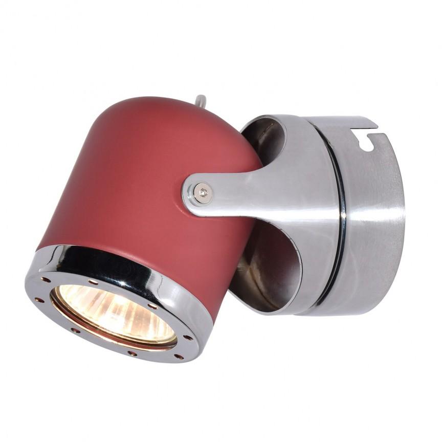 Aplica de perete cu 1 spot camera copii APRIL rosu/crom 5037 RX , Aplice aplicate perete sau tavan cu spot, LED⭐ modele moderne corpuri de iluminat tip spot-uri pe bara.✅Design decorativ 2021!❤️Promotii lampi❗ ➽ www.evalight.ro. Alege oferte aplice de iluminat interior, lustre si plafoniere cu 1 spot cu lumina LED si directie reglabila, spot orientabil cu intrerupator, simple si ieftine de calitate la cel mai bun pret. a
