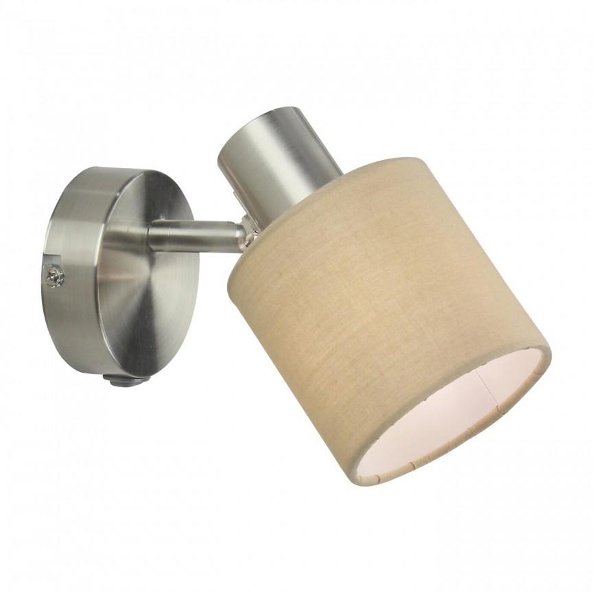 Aplica de perete cu 1 spot design modern NATINA bej 5009 RX, Aplice aplicate perete sau tavan cu spot, LED⭐ modele moderne corpuri de iluminat tip spot-uri pe bara.✅Design decorativ 2021!❤️Promotii lampi❗ ➽ www.evalight.ro. Alege oferte aplice de iluminat interior, lustre si plafoniere cu 1 spot cu lumina LED si directie reglabila, spot orientabil cu intrerupator, simple si ieftine de calitate la cel mai bun pret. a