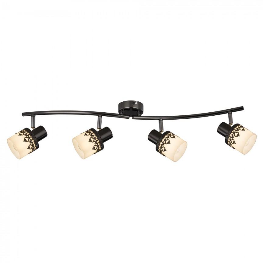 Lustra 4 spoturi design romatic LACEY negru/alb/crom 5344 RX, Cele mai noi produse 2020 a