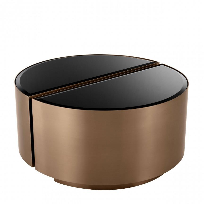Set 2 masute laterale design elegant LUX Astra, cupru-negru 113933 HZ, Magazin,  a