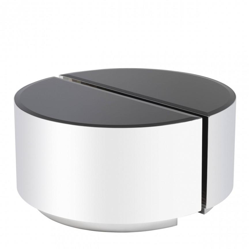 Set 2 masute laterale design elegant LUX Astra, argintiu-negru 114359 HZ, Magazin,  a