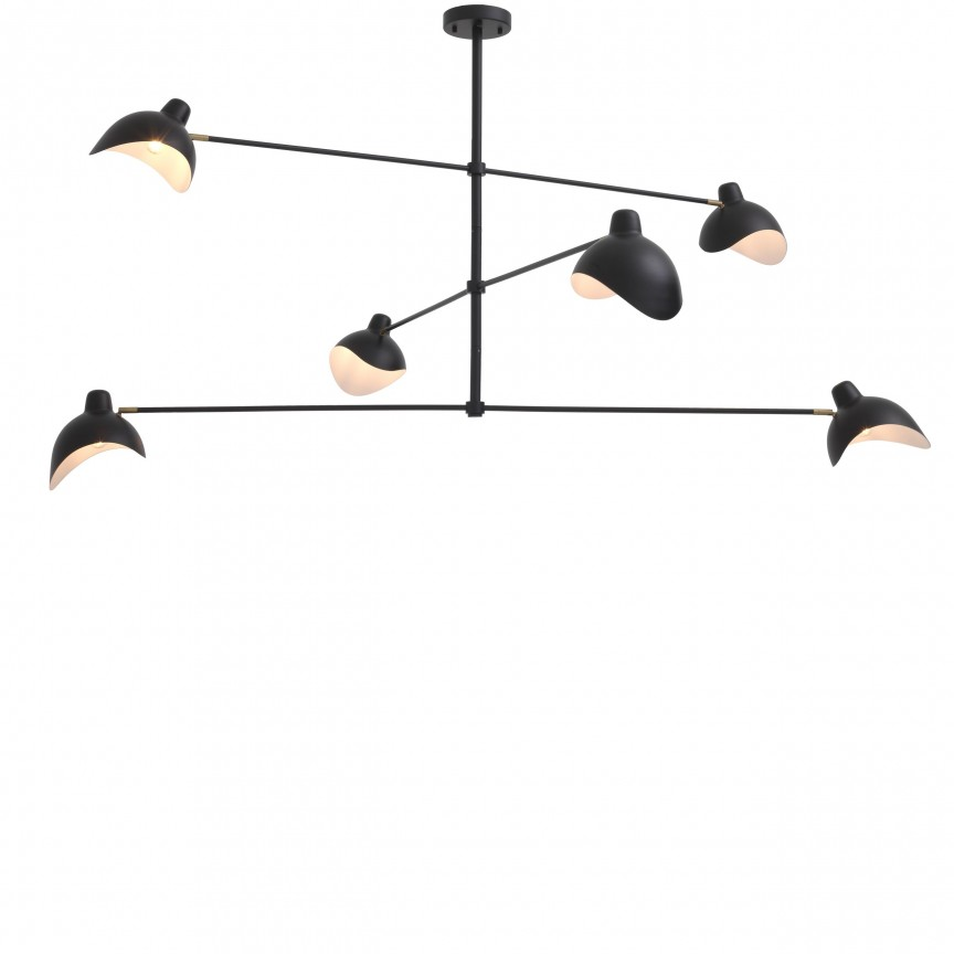 Lustra design modern LUX Vince, negru 114374 HZ, Magazin,  a