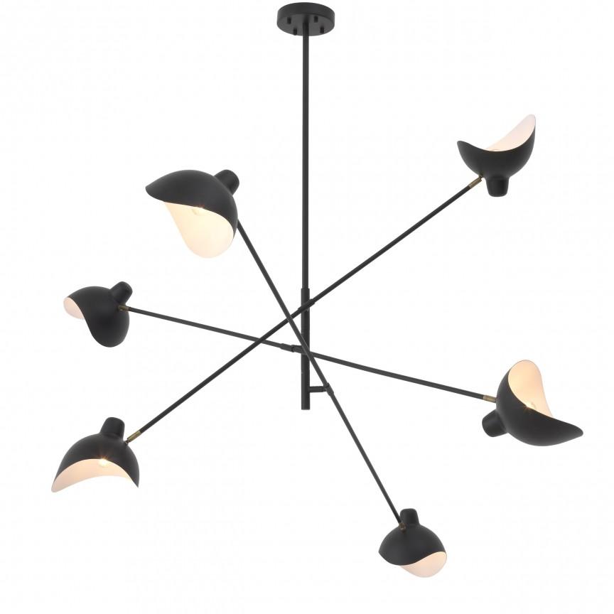 Lustra design modern LUX Meryll, negru 114373 HZ, Magazin,  a