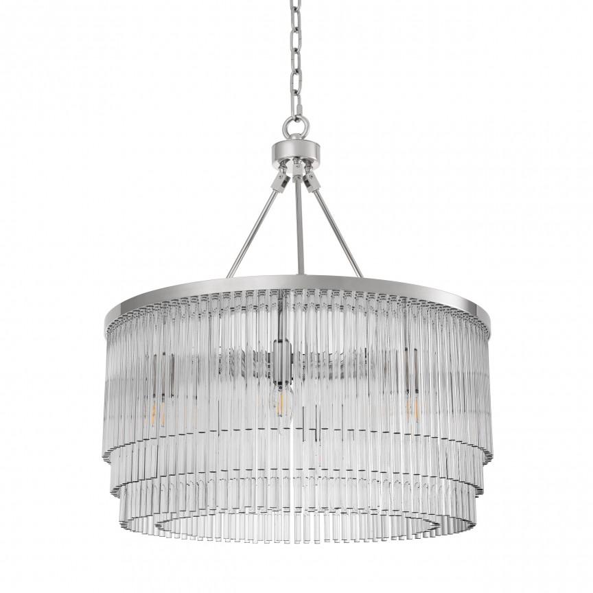 Lustra suspendata design elegant Hector S, nickel 114718 HZ, Magazin,  a