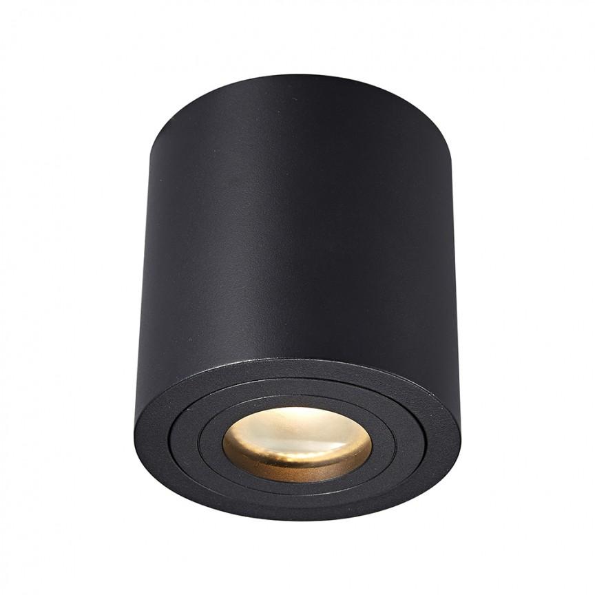 Spot aplicat cu protectie umiditate IP44 RONDIP SL negru ACGU10-159 ZL, Magazin,  a