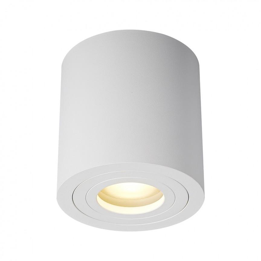 Spot aplicat cu protectie umiditate IP44 RONDIP SL alb ACGU10-158 ZL, Plafoniere cu protectie pentru baie, LED⭐ modele moderne de lux potrivite în baie. ✅Design premium actual Top 2020! ❤️Promotii lampi❗ ➽ www.evalight.ro. Corpuri de iluminat baie pt interior de tip lustre si spoturi aplicate sau incastrate, (tavan fals rigips, oglinda), cu led-uri si lumini puternice, rotunde si patrate, rezistente la apa (umiditate), ieftine de calitate deosebita la cel mai bun pret! a