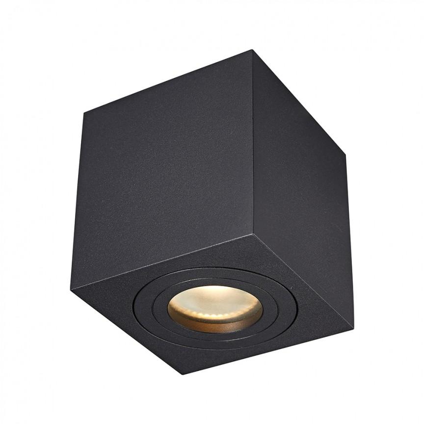 Spot aplicat cu protectie umiditate IP44 QUARDIP SL negru ACGU10-161 ZL, Plafoniere cu protectie pentru baie, LED⭐ modele moderne de lux potrivite în baie. ✅Design premium actual Top 2020! ❤️Promotii lampi❗ ➽ www.evalight.ro. Corpuri de iluminat baie pt interior de tip lustre si spoturi aplicate sau incastrate, (tavan fals rigips, oglinda), cu led-uri si lumini puternice, rotunde si patrate, rezistente la apa (umiditate), ieftine de calitate deosebita la cel mai bun pret! a