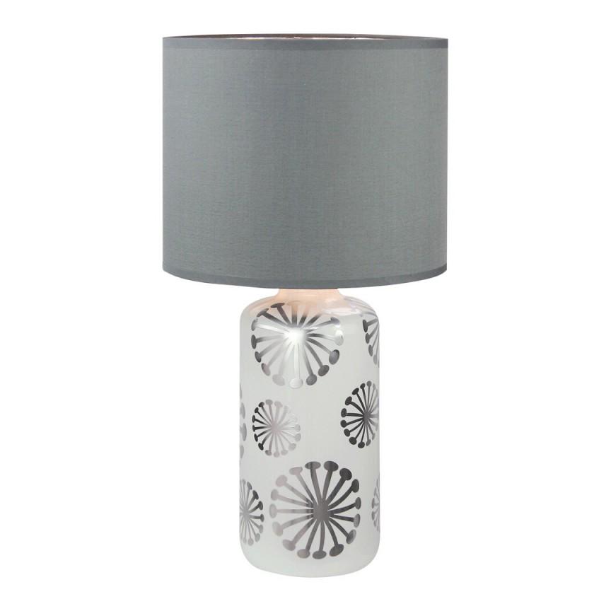 Veioza design modern GINGER alb/argintiu/gri 6029 RX, Magazin,  a