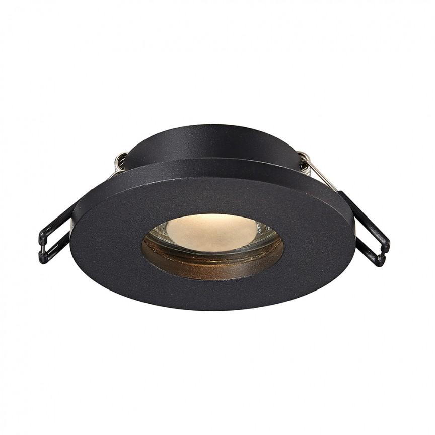 Spot incastrabil cu protectie umiditate IP54 CHIPA DL negru ARGU10-034 ZL, Spoturi incastrate tavan / perete, LED⭐ modele moderne potrivite pentru baie, mobila bucătărie, hol, living si dormitor.✅ Design actual 2020!❤️Promotii lampi❗ ➽ www.evalight.ro. Alege oferte la corpuri de iluminat interior incastrat cu montare in tavanul fals rigips, (rotunde si patrate), ieftine de calitate la cel mai bun pret. a