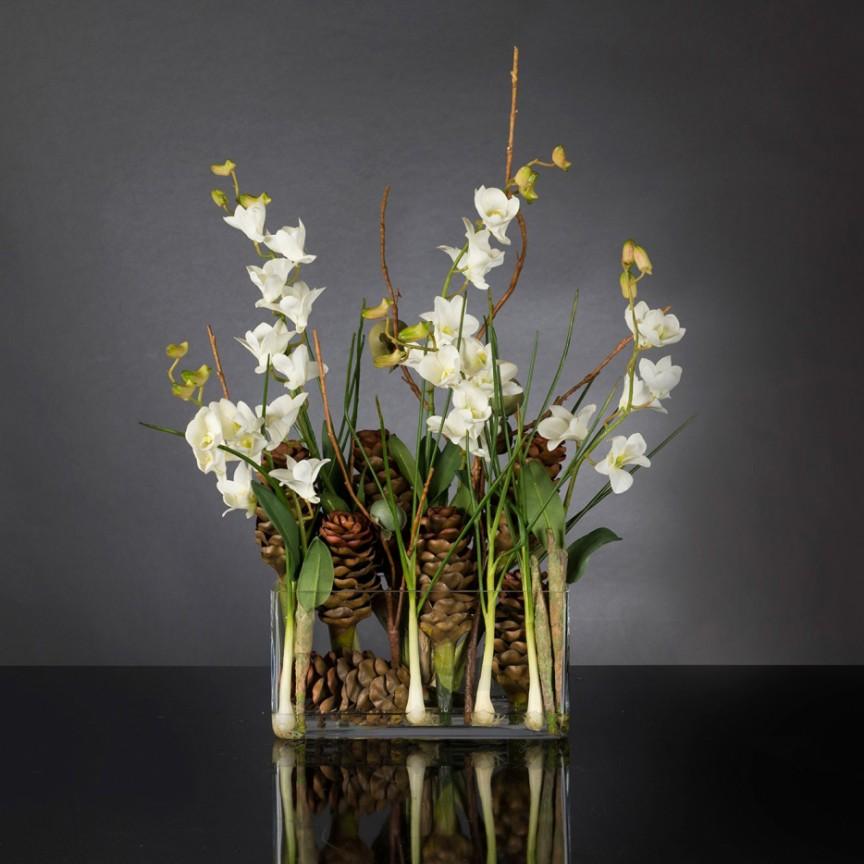 Aranjament floral design LUX ETERNITY RECTANGULAR VASE CORINTO 1142256.95, Magazin,  a