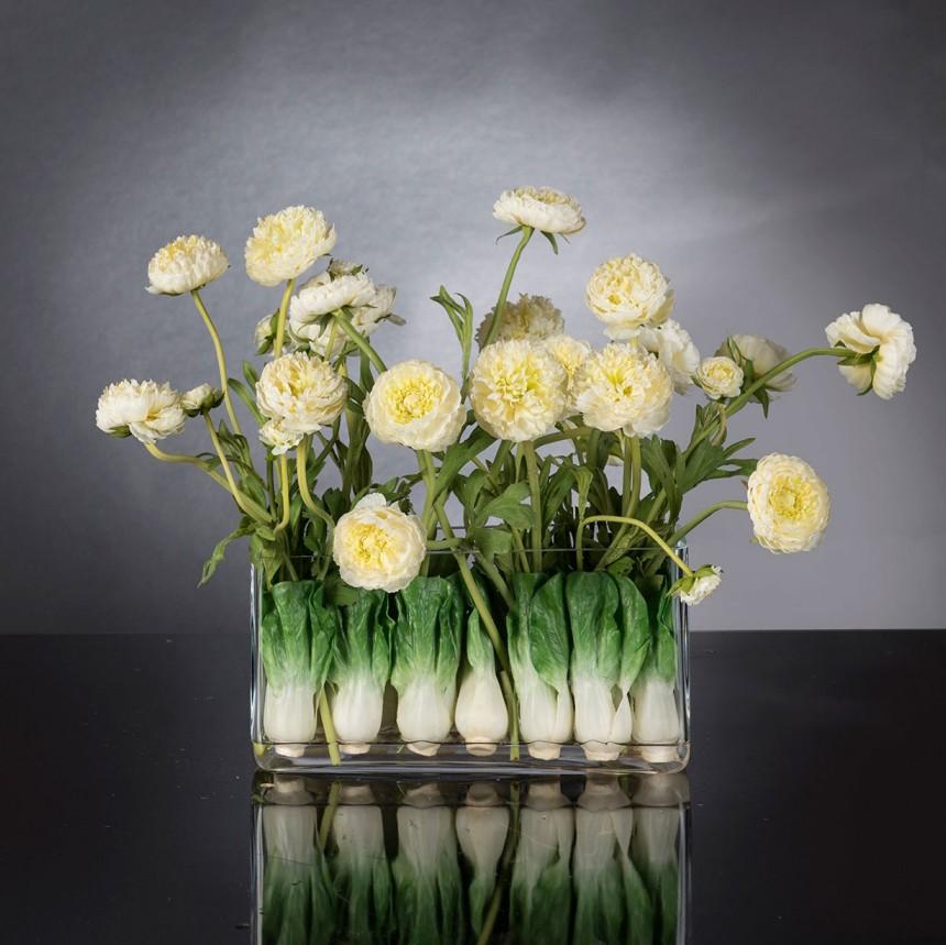 Aranjament floral decor festiv design LUX RECTANGULAR VASE ZANTE, Magazin,  a