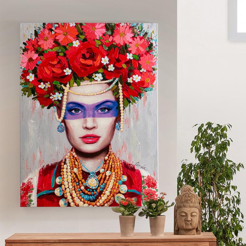 Tablou de perete decorativ Gaia, 90x120cm SV-799263, Promotii si Reduceri⭐ Oferte ✅Corpuri de iluminat ✅Lustre ✅Mobila ✅Decoratiuni de interior si exterior.⭕Pret redus online➜Lichidari de stoc❗ Magazin ➽ www.evalight.ro. a