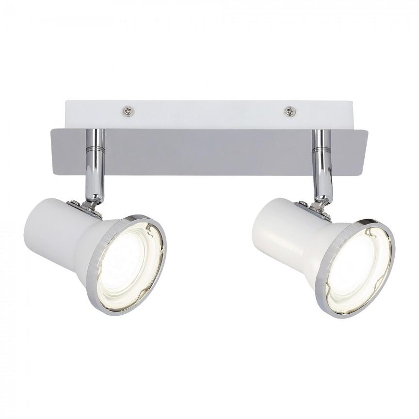 Plafoniera cu 2 spoturi directionabile pentru baie IP44 Steve 5498 RX , Plafoniere cu protectie pentru baie, LED⭐ modele moderne de lux potrivite în baie. ✅Design premium actual Top 2020! ❤️Promotii lampi❗ ➽ www.evalight.ro. Corpuri de iluminat baie pt interior de tip lustre si spoturi aplicate sau incastrate, (tavan fals rigips, oglinda), cu led-uri si lumini puternice, rotunde si patrate, rezistente la apa (umiditate), ieftine de calitate deosebita la cel mai bun pret! a