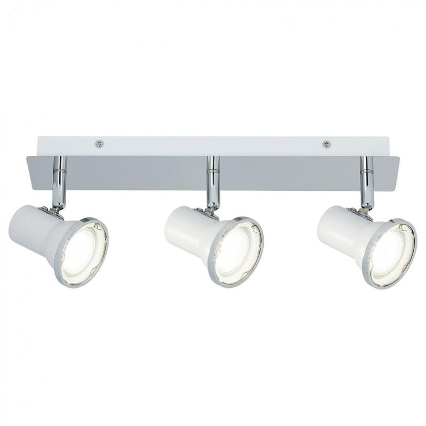 Plafoniera cu 3 spoturi directionabile pentru baie IP44 Steve 5499 RX, Plafoniere cu protectie pentru baie, LED⭐ modele moderne de lux potrivite în baie. ✅Design premium actual Top 2020! ❤️Promotii lampi❗ ➽ www.evalight.ro. Corpuri de iluminat baie pt interior de tip lustre si spoturi aplicate sau incastrate, (tavan fals rigips, oglinda), cu led-uri si lumini puternice, rotunde si patrate, rezistente la apa (umiditate), ieftine de calitate deosebita la cel mai bun pret! a