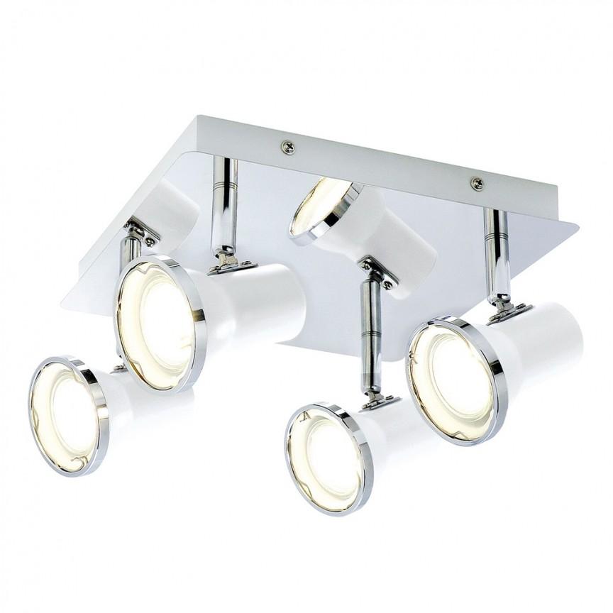 Plafoniera cu 4 spoturi directionabile pentru baie IP44 Steve 5500 RX , Plafoniere cu protectie pentru baie, LED⭐ modele moderne de lux potrivite în baie. ✅Design premium actual Top 2020! ❤️Promotii lampi❗ ➽ www.evalight.ro. Corpuri de iluminat baie pt interior de tip lustre si spoturi aplicate sau incastrate, (tavan fals rigips, oglinda), cu led-uri si lumini puternice, rotunde si patrate, rezistente la apa (umiditate), ieftine de calitate deosebita la cel mai bun pret! a