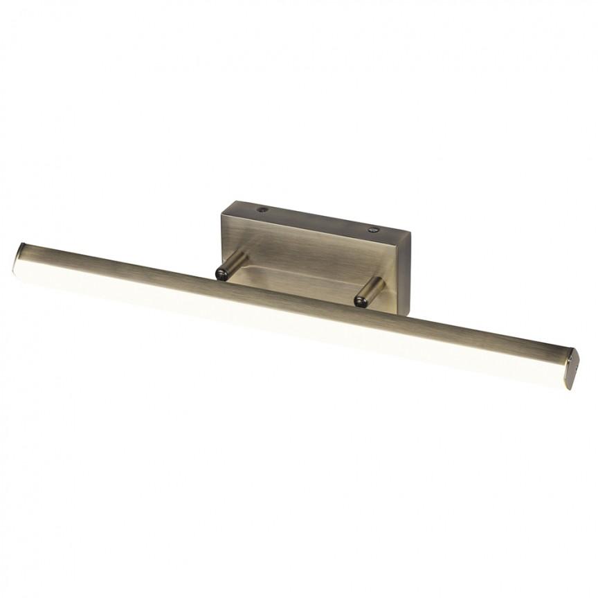 Aplica de perete LED pentru oglinda baie IP44 Silas 12W bronz 5720 RX, Aplice pentru baie / oglinda / tablou, perete⭐ modele moderne, clasice, potrivite in baie. ✅Design premium actual Top 2020! ❤️Promotii lampi baie cu LED❗ ➽ www.evalight.ro. Alege oferte la corpuri de iluminat de perete baie LED si tavan tip plafoniere, pt interior, cu priza, intrerupator (snur), senzor, rezistente la apa (umiditate), ieftine sau de lux, calitate deosebita la cel mai bun pret! a
