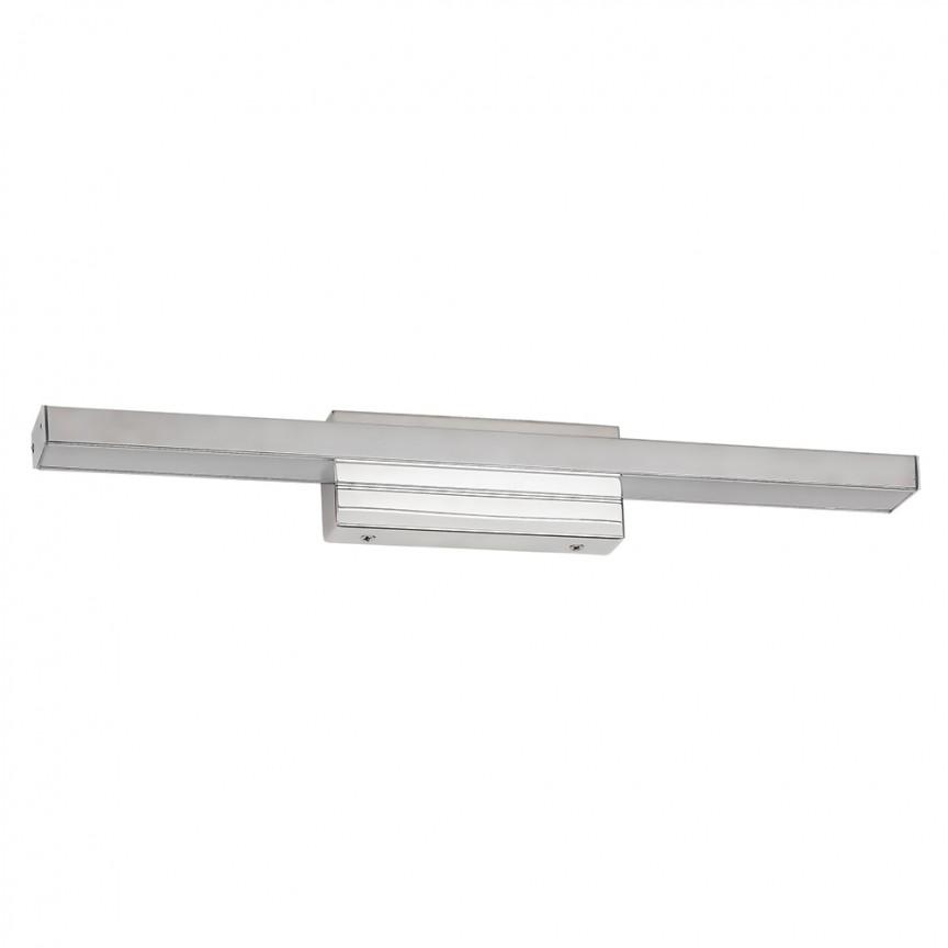 Aplica de perete LED baie, oglinda IP44 John I 18W crom 6129 RX, Aplice pentru baie / oglinda / tablou, perete⭐ modele moderne, clasice, potrivite in baie. ✅Design premium actual Top 2020! ❤️Promotii lampi baie cu LED❗ ➽ www.evalight.ro. Alege oferte la corpuri de iluminat de perete baie LED si tavan tip plafoniere, pt interior, cu priza, intrerupator (snur), senzor, rezistente la apa (umiditate), ieftine sau de lux, calitate deosebita la cel mai bun pret! a