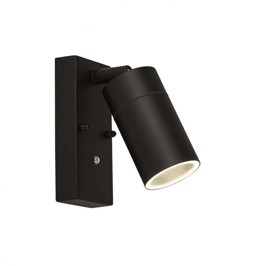 Aplica perete pentru exterior cu senzor de miscare Outdoor 15701BK SRT, Aplice de exterior moderne LED⭐modele de lampi potrivite pentru iluminare perete casa, terasa, curte si gradina.✅Design premium actual Top 2020!❤️Promotii Aplice de perete exterior❗ ➽ www.evalight.ro. Alege oferte la corpuri de iluminat decorative rezistente la apa, cu lumina ambientala, (solare cu panou solar si senzori de miscare, becuri economice cu LED), ieftine si de lux, calitate deosebita la cel mai bun pret. a