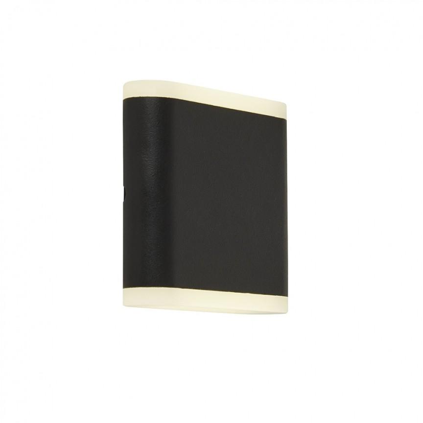 Aplica LED pentru exterior iluminat ambiental sus/jos Outdoor negru 3486BK SRT, Aplice de exterior moderne LED⭐modele de lampi potrivite pentru iluminare perete casa, terasa, curte si gradina.✅Design premium actual Top 2020!❤️Promotii Aplice de perete exterior❗ ➽ www.evalight.ro. Alege oferte la corpuri de iluminat decorative rezistente la apa, cu lumina ambientala, (solare cu panou solar si senzori de miscare, becuri economice cu LED), ieftine si de lux, calitate deosebita la cel mai bun pret. a