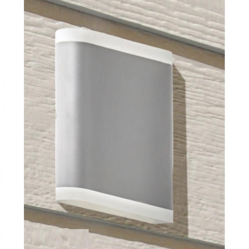 Aplica LED pentru exterior iluminat ambiental sus/jos Outdoor gri 3486GY SRT, Aplice de exterior moderne LED⭐modele de lampi potrivite pentru iluminare perete casa, terasa, curte si gradina.✅Design premium actual Top 2020!❤️Promotii Aplice de perete exterior❗ ➽ www.evalight.ro. Alege oferte la corpuri de iluminat decorative rezistente la apa, cu lumina ambientala, (solare cu panou solar si senzori de miscare, becuri economice cu LED), ieftine si de lux, calitate deosebita la cel mai bun pret. a