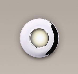 Spot incastrabil, cromat, cu protectie IP65, diam.8,5cm, RCR H0045 MX, Spoturi incastrate, aplicate - tavan / perete, Corpuri de iluminat, lustre, aplice, veioze, lampadare, plafoniere. Mobilier si decoratiuni, oglinzi, scaune, fotolii. Oferte speciale iluminat interior si exterior. Livram in toata tara.  a