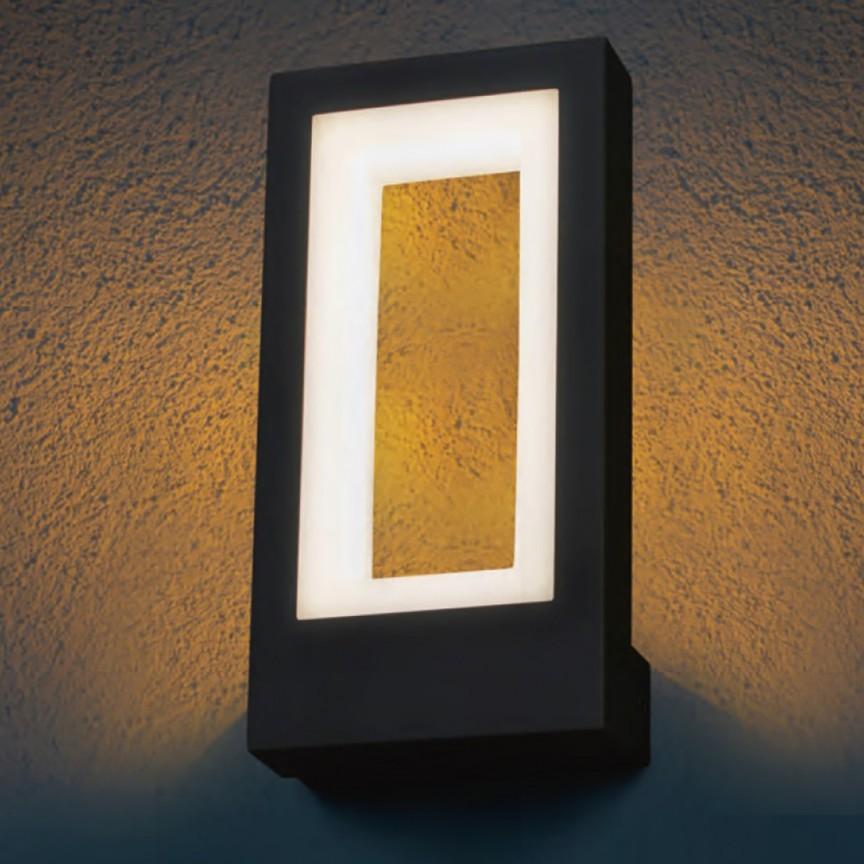 Aplica de perete LED moderna pentru iluminat exterior Outdoor 2143GY SRT , Aplice de exterior moderne LED⭐modele de lampi potrivite pentru iluminare perete casa, terasa, curte si gradina.✅Design premium actual Top 2020!❤️Promotii Aplice de perete exterior❗ ➽ www.evalight.ro. Alege oferte la corpuri de iluminat decorative rezistente la apa, cu lumina ambientala, (solare cu panou solar si senzori de miscare, becuri economice cu LED), ieftine si de lux, calitate deosebita la cel mai bun pret. a
