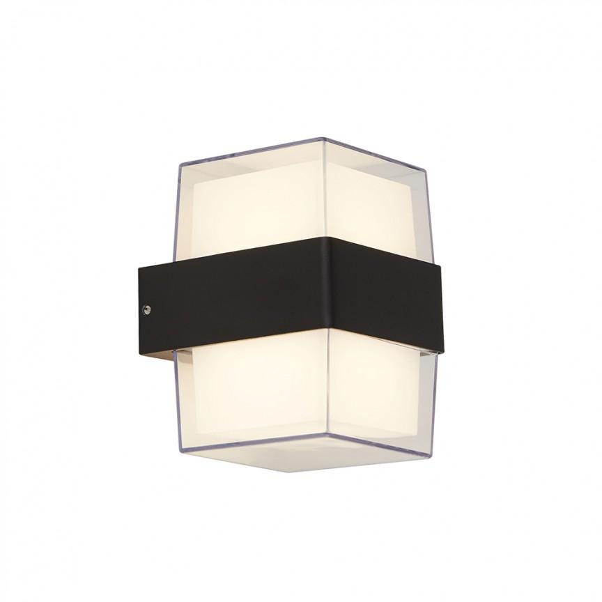 Aplica LED moderna pentru iluminat exterior ambiental Outdoor 25122-2BK SRT, Aplice de exterior moderne LED⭐modele de lampi potrivite pentru iluminare perete casa, terasa, curte si gradina.✅Design premium actual Top 2020!❤️Promotii Aplice de perete exterior❗ ➽ www.evalight.ro. Alege oferte la corpuri de iluminat decorative rezistente la apa, cu lumina ambientala, (solare cu panou solar si senzori de miscare, becuri economice cu LED), ieftine si de lux, calitate deosebita la cel mai bun pret. a