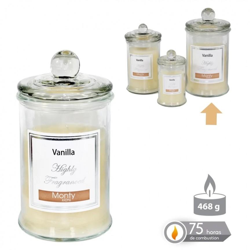 Lumanare parfumata GLASS JAR CANDLE VANILLA crem SX-131022, Magazin,  a