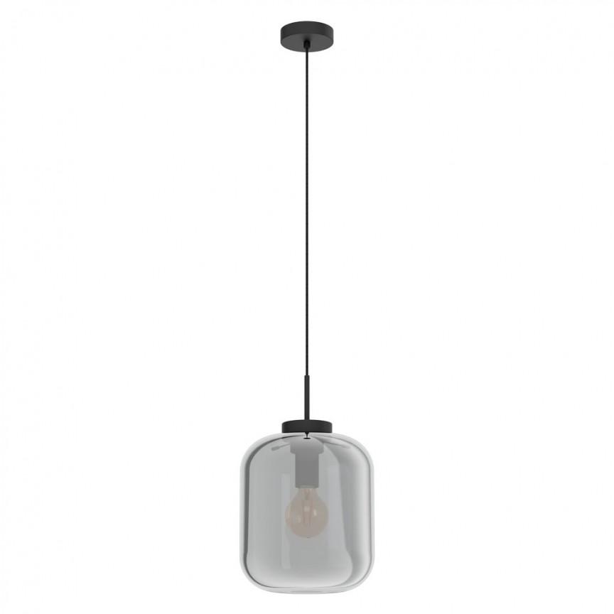 Lustra, Pendul din sticla negru-transparent BULCIAGO 25cm 39673 EL, Magazin,  a