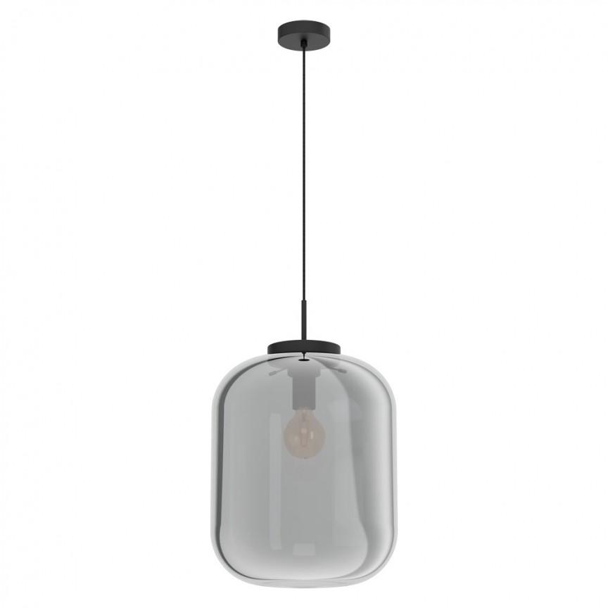 Lustra, Pendul din sticla negru-transparent BULCIAGO 35cm 39674 EL, Magazin,  a