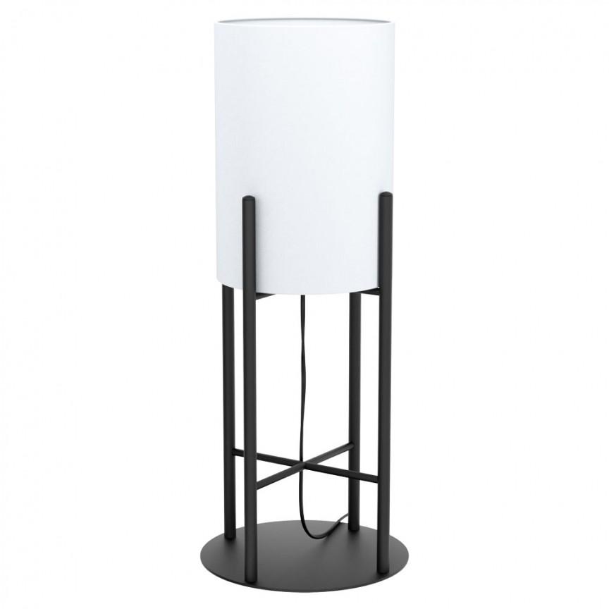 Veioza, Lampa de masa cu abajur textil alb GLASTONBURY 43143 EL, Magazin,  a