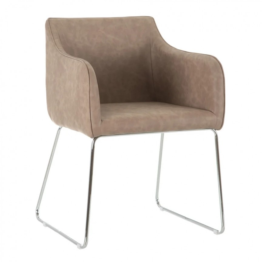 Set de 2 scaune design modern Milena, bej-crom SX-600016, Magazin,  a
