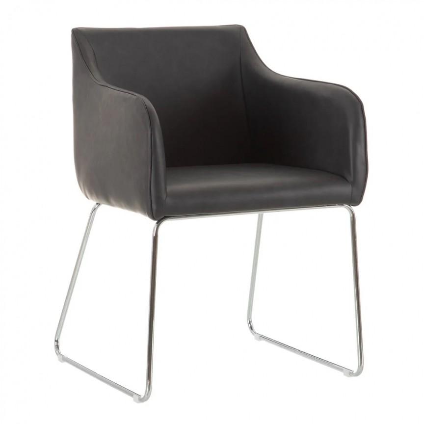 Set de 2 scaune design modern Milena, negru-crom SX-600015, Magazin,  a
