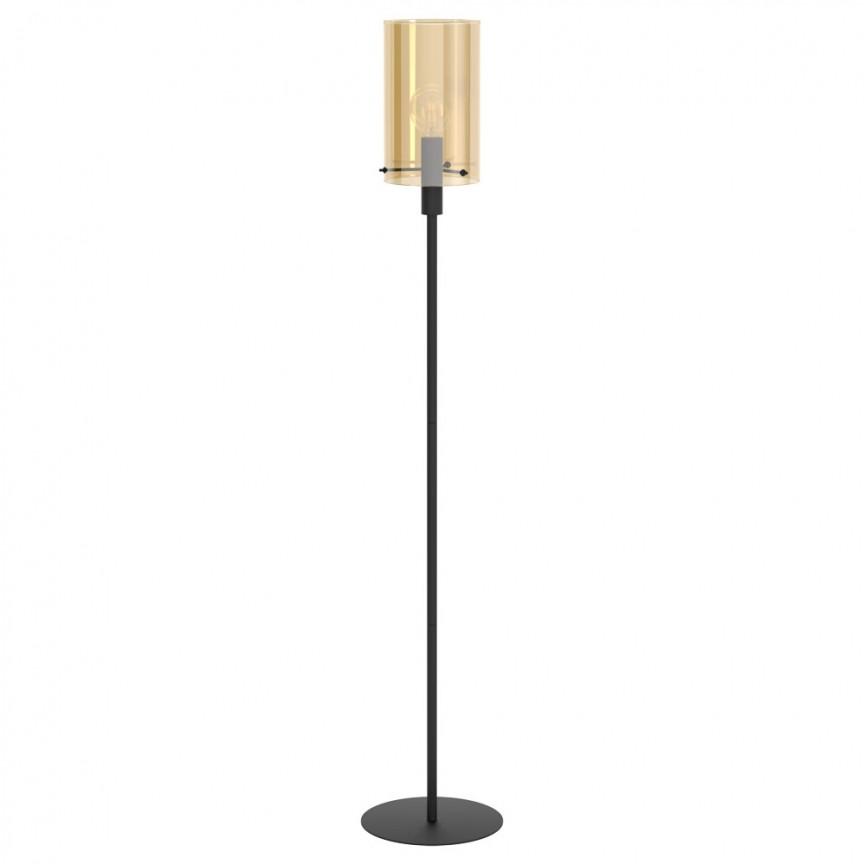 Lampadar, lampa de podea cu sticla chihlimbar POLVERARA 39542 EL, Lampadare moderne si lampi de podea cu picior inalt⭐ modele deosebite stil scandinav, retro sau vintage pentru living si dormitor.✅Design premium actual Top 2020!❤️Promotii lampi❗ ➽ www.evalight.ro. Alege oferte la lampadare de lux pt iluminat interior decorativ, rustice, clasice, industrial, cu reader LED, elegante cu cristale, cu masuta, cu picior tip trepied lemn, reglabil, telescopic curbat tip arc, abajur din sticla, tesatura cu flori, ieftine si de calitate la cel mai bun pret. a
