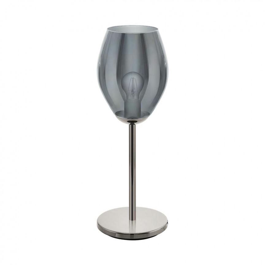 Veioza, Lampa de masa cu sticla negru-transparent ESTANYS 39568 EL, Magazin,  a
