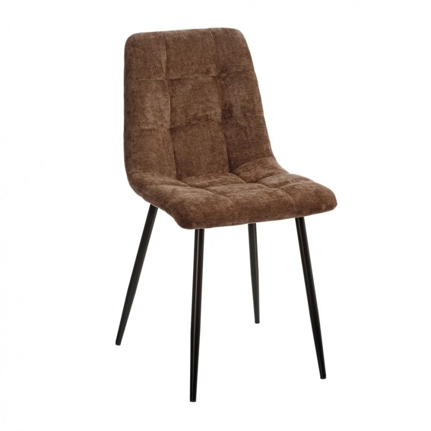 Set de 4 scaune design modern Julien, catifea maro SX-154416, Magazin,  a