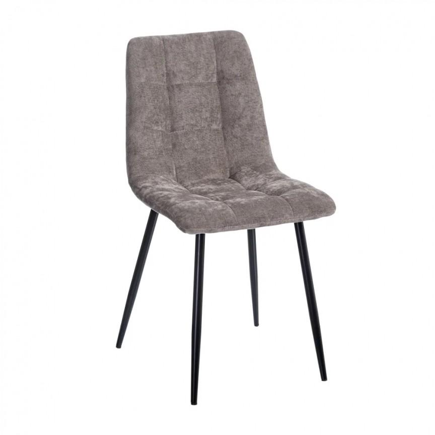 Set de 4 scaune design modern Julien, catifea gri SX-154415, Magazin,  a