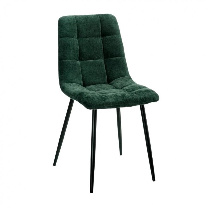 Set de 4 scaune design modern Julien, catifea verde SX-154414, Magazin,  a