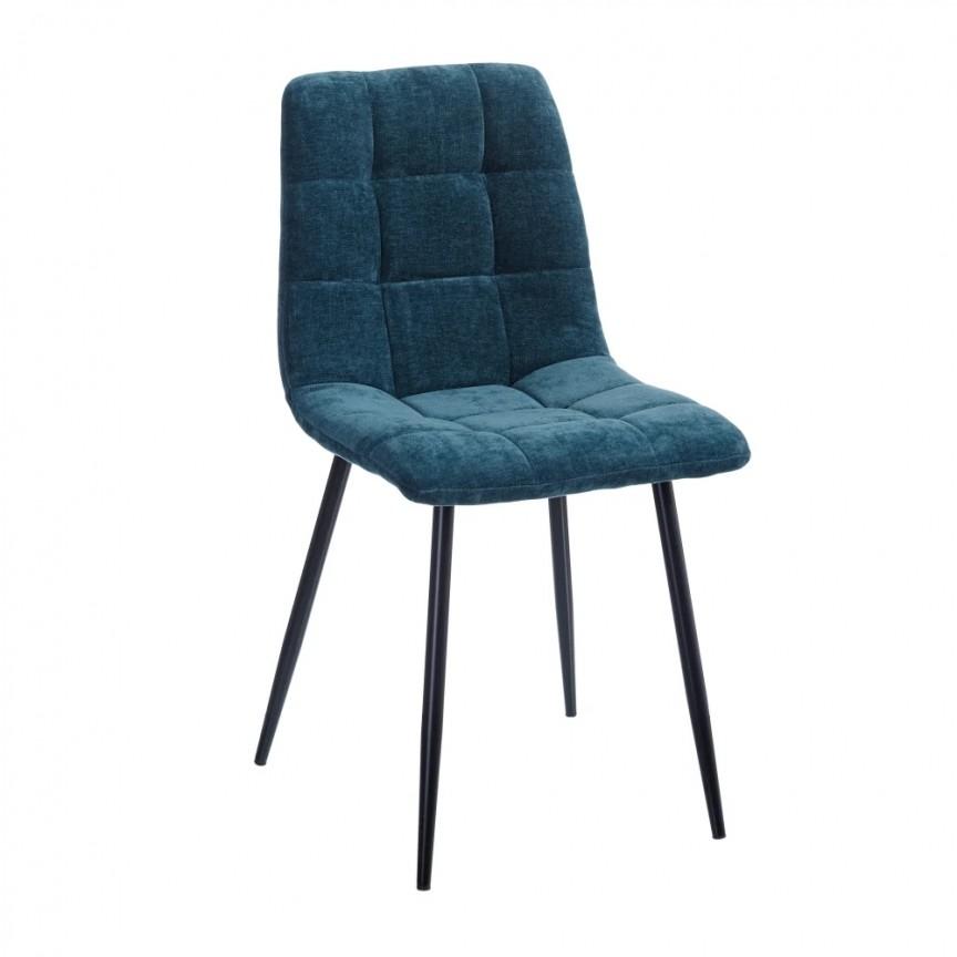 Set de 4 scaune design modern Julien, catifea albastra SX-154413, Magazin,  a