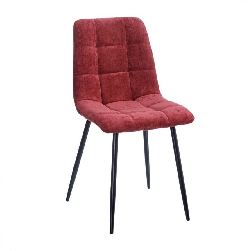 Set de 4 scaune design modern Julien, catifea bordo SX-154411, Magazin,  a