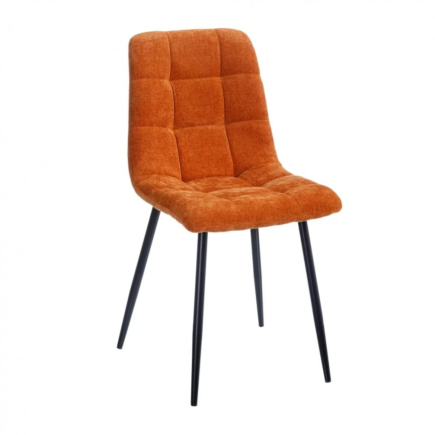 Set de 4 scaune design modern Julien, catifea portocalie SX-154409, Magazin,  a