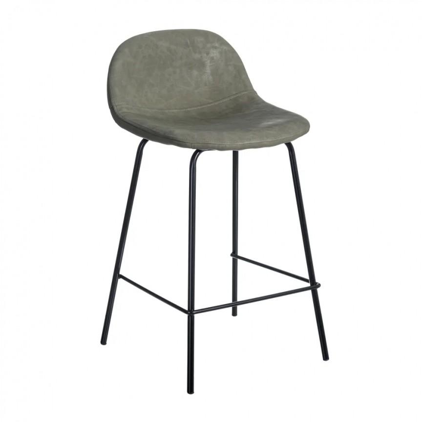 Set de 2 scaune de bar design modern Jaffer, verde inchis-negru SX-154400, Magazin,  a