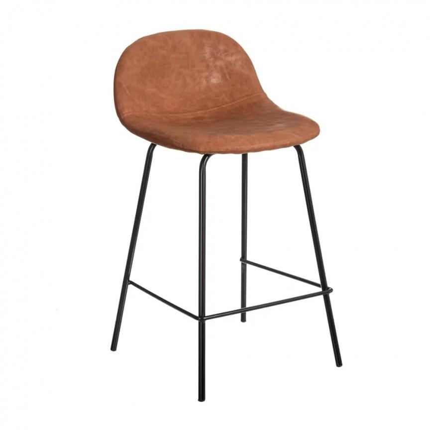 Set de 2 scaune de bar design modern Jaffer, maro-negru SX-154399, Magazin,  a