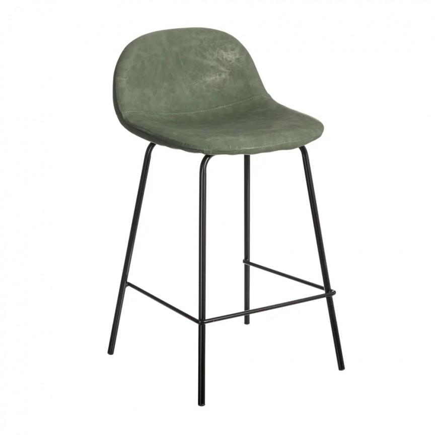 Set de 2 scaune de bar design modern Jaffer, verde-negru SX-154398, Magazin,  a