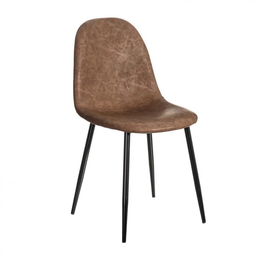 Set de 2 scaune design modern Jaffer, maro inchis-negru SX-154397, Magazin,  a