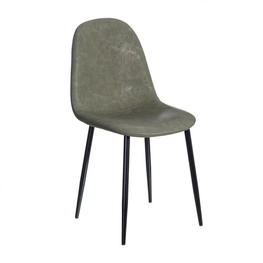Set de 2 scaune design modern Jaffer, verde inchis-negru SX-154396, Magazin,  a