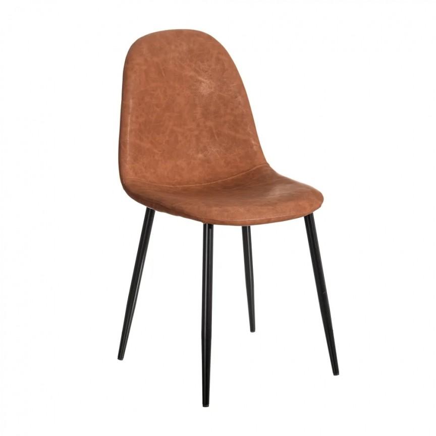 Set de 2 scaune design modern Jaffer, maro-negru SX-154395, Magazin,  a