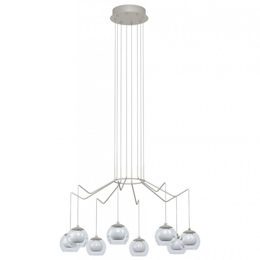Lustra moderna dimabila cu 8 pendule LED ROVIGANA 39515 EL, Magazin,  a