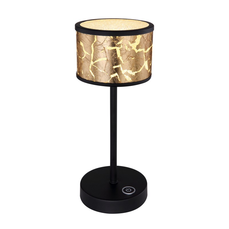 Veioza LED design modern POTTI negru, auriu 49367-6T GL, Veioze si Lampi LED de birou si masa cu LED⭐ modele elegante moderne pentru iluminat dormitor, living.✅Design decorativ 2021!❤️Promotii lampi❗ ➽ www.evalight.ro. Alege oferte la corpuri de iluminat interior cu picior inalt pentru noptiere pat, stil nordic scandinav, rustice, industriale, clasice cu cristale, baza ceramica, portelan, metal, cu picior tip trepied din lemn, abajur din material textil, sticla, tesatura, ieftine si de lux, calitate deosebita la cel mai bun pret. a